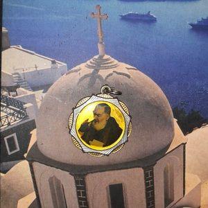 St. Padre Pio/2ndClass Relic/VestmentMedal/Pendant